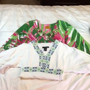 Pack of 2 long sleeve shirts mixed brands.